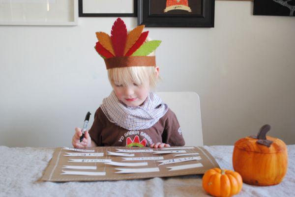 Simple DIY Thanksgiving Place Mat