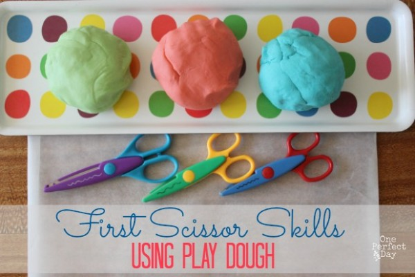 Learning to Use Scissors with Play Dough