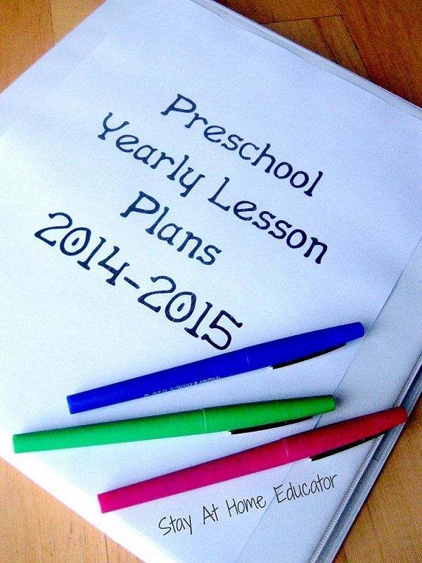 Writing lesson plans for preschool