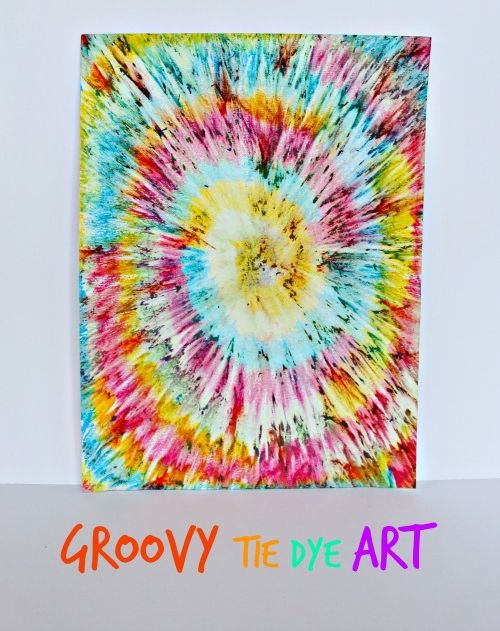 Groovy Tie Dye Art for Kids