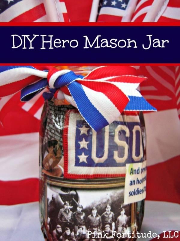 DIY Hero Mason Jar