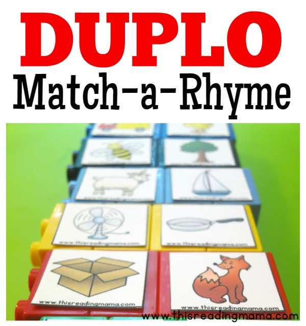 Knitting Rhyme Words : Duplo rhyming word matching lesson plans