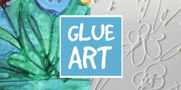 Glue Art on Canvas
