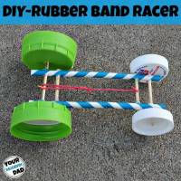 STEAM Activity - DIY Rubber Band Racer