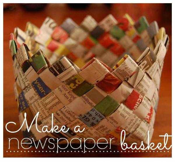 Make a Newspaper Basket