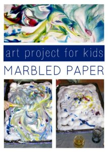 Marbled Shaving Cream Art
