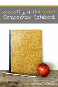 DIY Glitter Composition Notebook