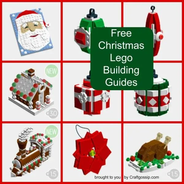 Make your own lego ornaments with these free instruction Make your own christmas bunting