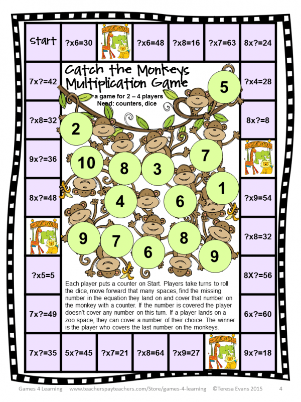 Multiplication Board Games (4)