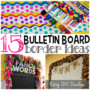 homemade bulletin board border ideas 300x300 bulletin board ideas office
