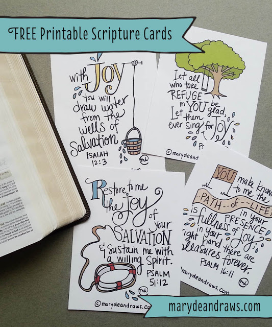 Free Printable Illustrated Scripture Cards | Craft Gossip ...