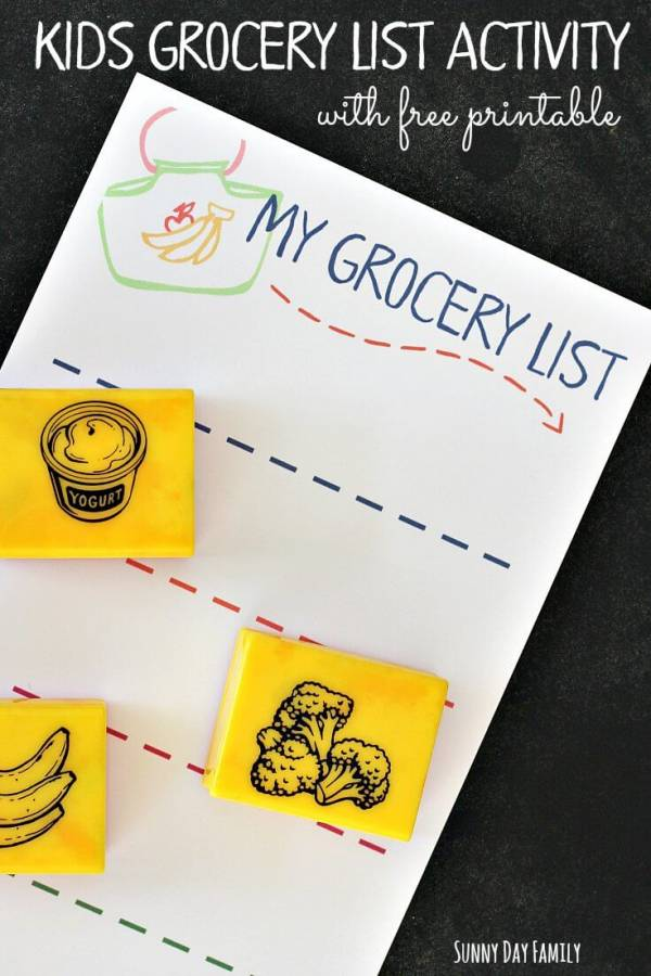 grocery list activity