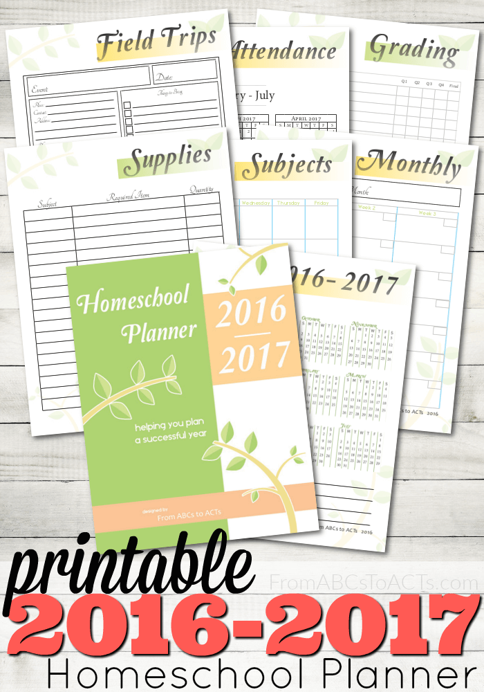 Printable homeschool planner to start the year out right.