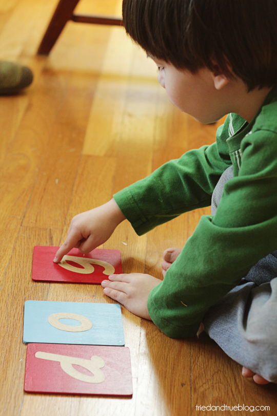 Make your own Montessori sandpaper letters