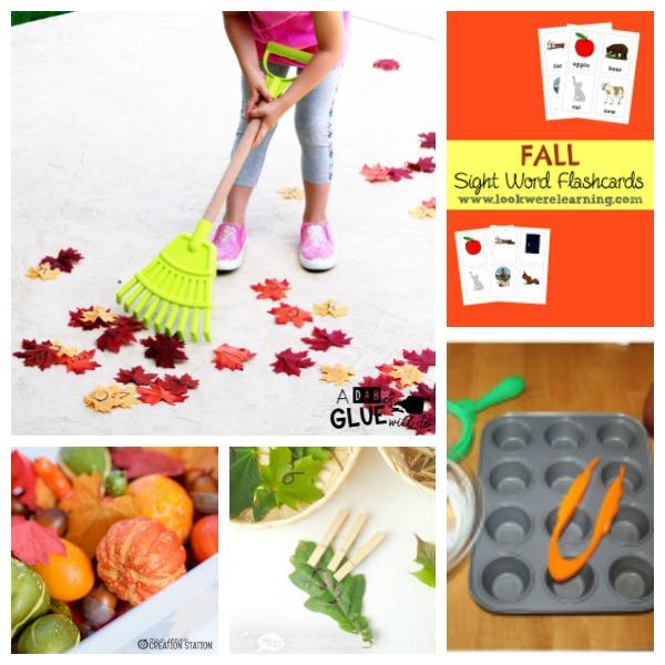 fall learning activities for little kids