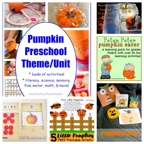 pumpkin learning activites for preschoolers
