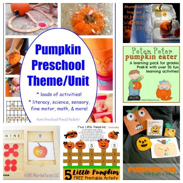 pumpkin learning activites for preschoolers