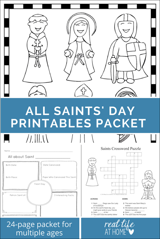 All Saints Day printable packet