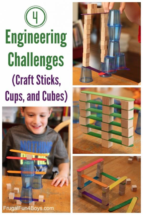 Engineering challenges with everyday household items