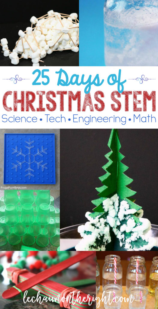 Christmas and winter STEM and science challenges