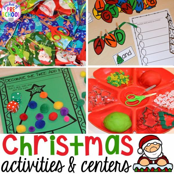 Christmas Center ideas for preschool and kindergarten.