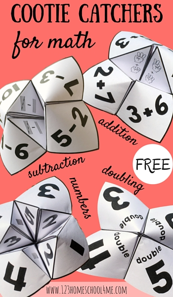 math cootie catchers: a fun way to play with math!