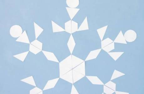 Learn about Shapes, Symmetry and Geometry with Snowflake Patterns
