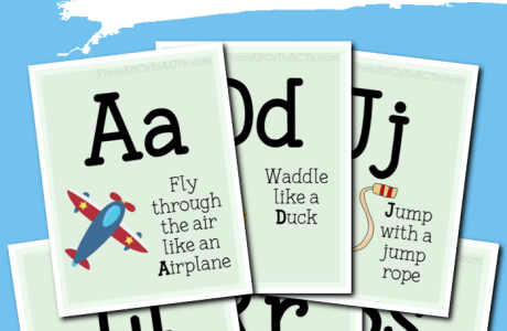 Gross Motor Activity Alphabet Cards