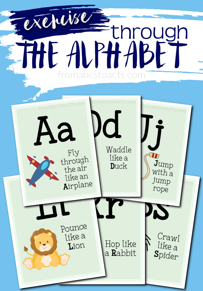 Gross motor activty alphabet flash cards