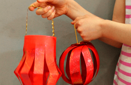 Make Fun Paper Lanterns for Chinese New Year