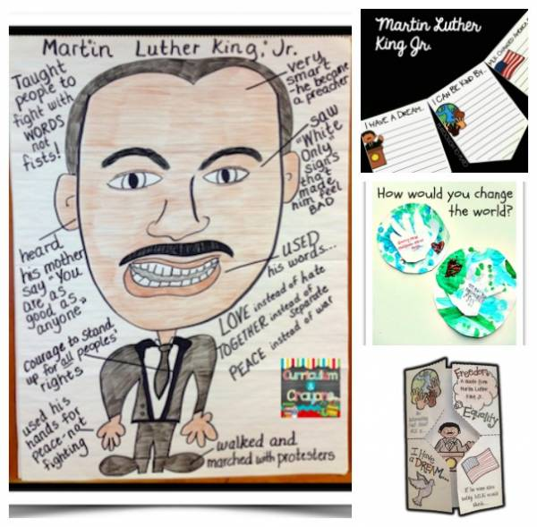 Activities for kids for Martin Luther King Jr. Day.