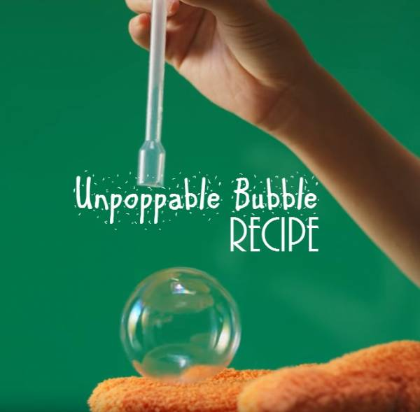 How to make unpoppable bubbles.