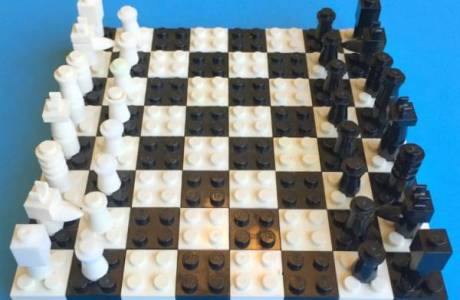 Make a Chess Board out of Legos