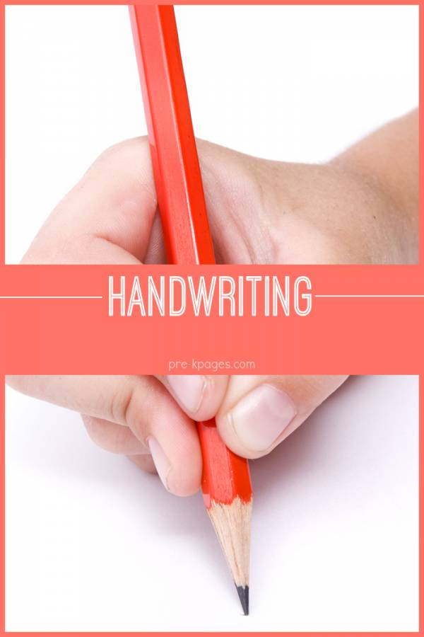 Tips and thoughts about teaching handwriting in preschool