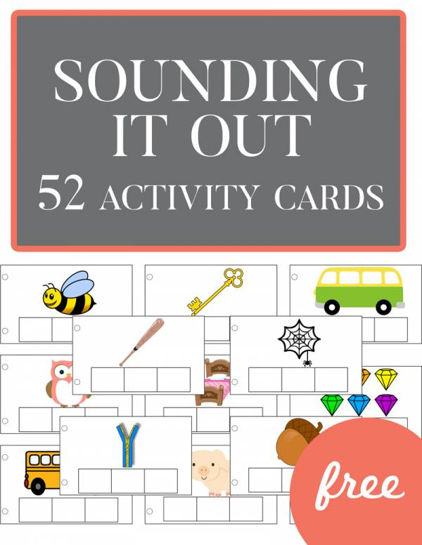 printable cards help kids learn to sound it out.