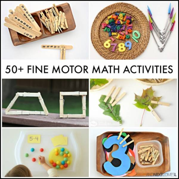 fine-motor math activities