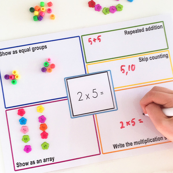 multiplication strategy mats