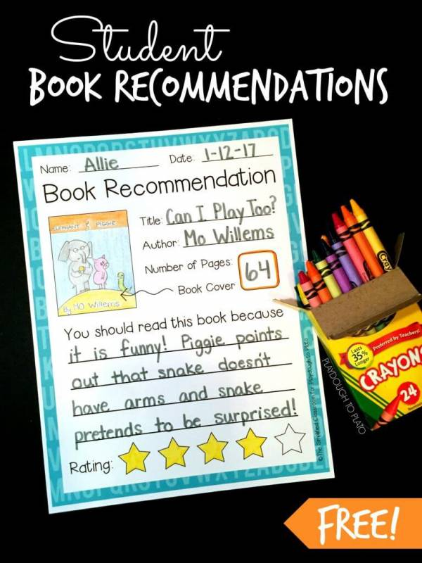 book recommendation printable