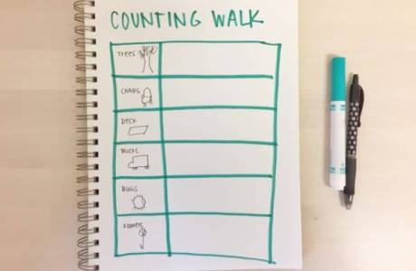 Go on a Counting Walk with Your Littles
