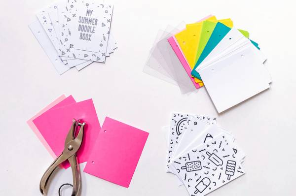 Make a Summer Doodle Book for the Kids (or Yourself)