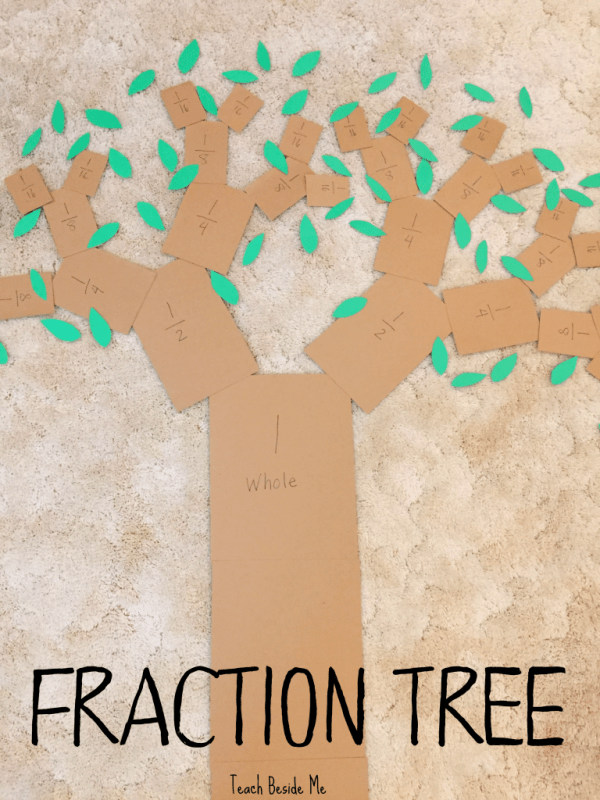 make a fraction tree for hands on learning