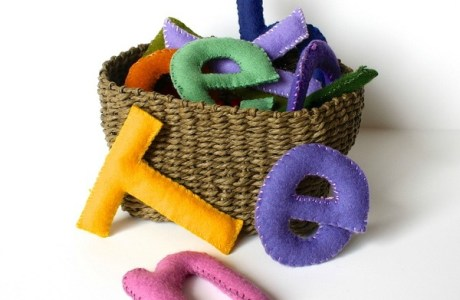 Felt Letters are Fun to Make and to Play with