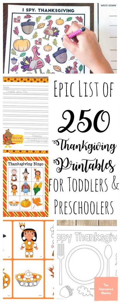 Check out this Amazing Collection of Free Thanksgiving Printables