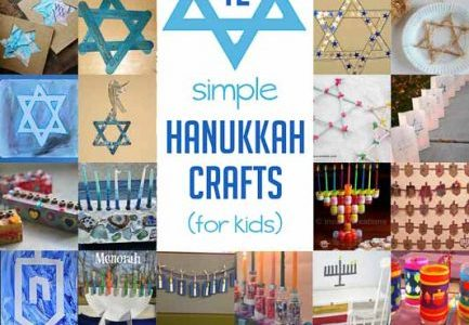 A Great Collection of Hanukkah Crafts