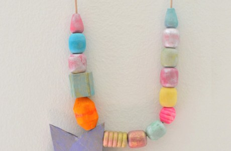 Painted Bead Necklaces – An Easy Art Activity for Kids
