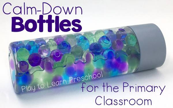 calm down bottles for the classroom