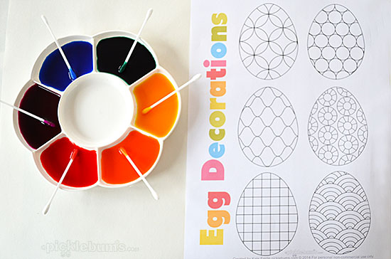 egg printables for art exploration