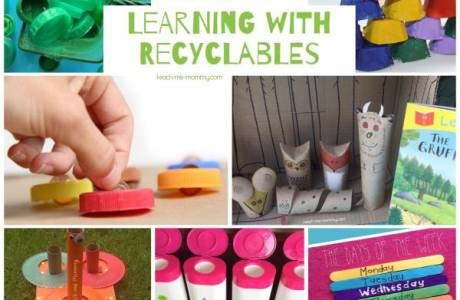 Learn with Recylables for Earth Day and Every Day