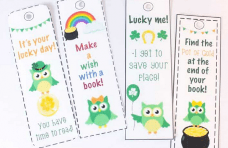 Print Some Cute St. Patrick's Day Bookmarks