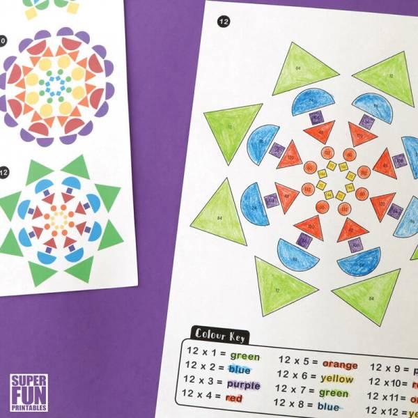 multiplication mandalas